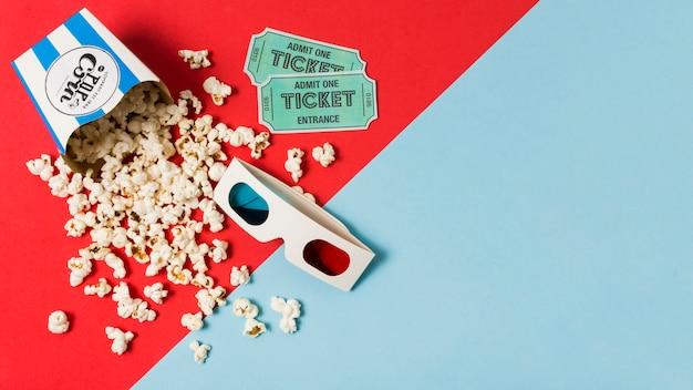 Copy-space попкорн для кино Бесплатные Фотографии