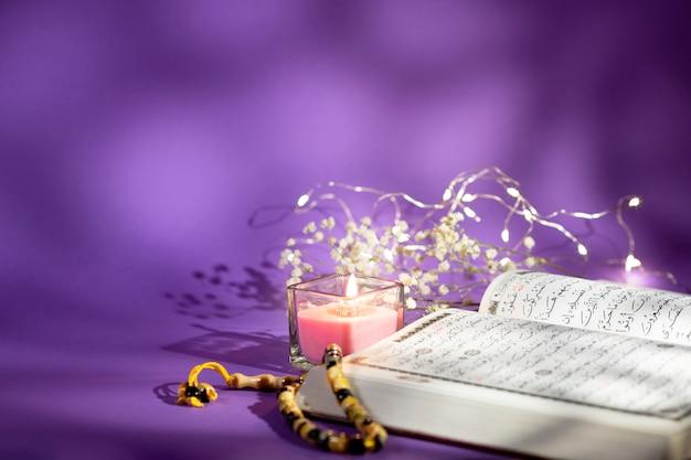 Copy space spiritual arabic arragement Free Photo