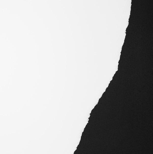 スペース白と黒の紙をコピー 無料写真