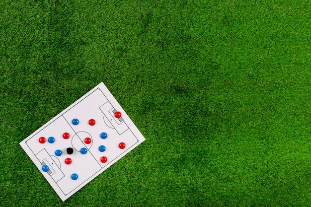 Футбольная композиция с copyspace Бесплатные Фотографии