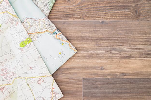 Фон с картами и copyspace Бесплатные Фотографии