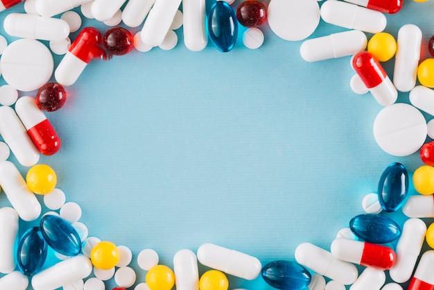 Красочные таблетки с copyspace Бесплатные Фотографии