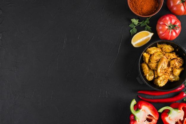 Copyspaceとフラットレイアウトメキシコ料理組成 無料写真