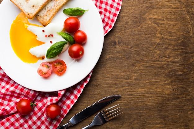 フラットレイアウト朝食組成copyspace 無料写真
