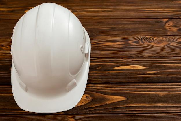 Copyspaceとフラットレイホワイト建設ヘルメット 無料写真