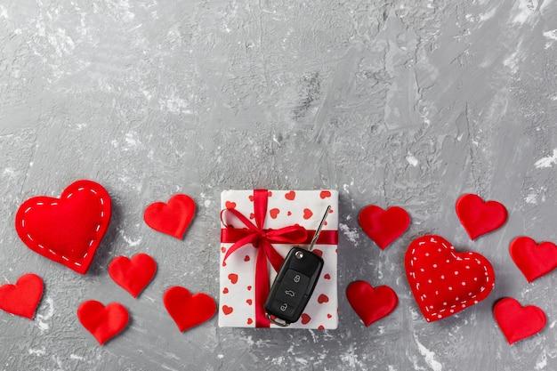 休日の装飾、copyspaceのバレンタインギフト Premium写真