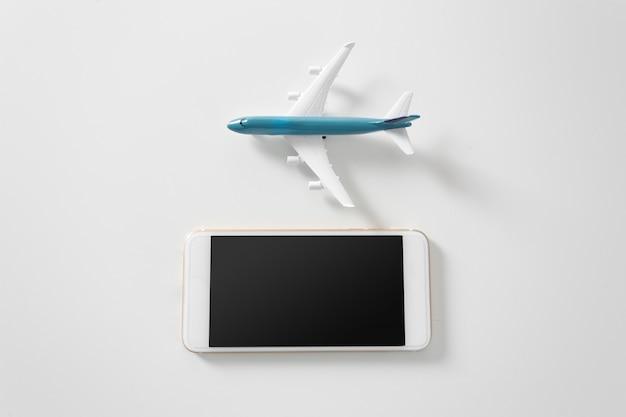 Самолет с copyspace Premium Фотографии