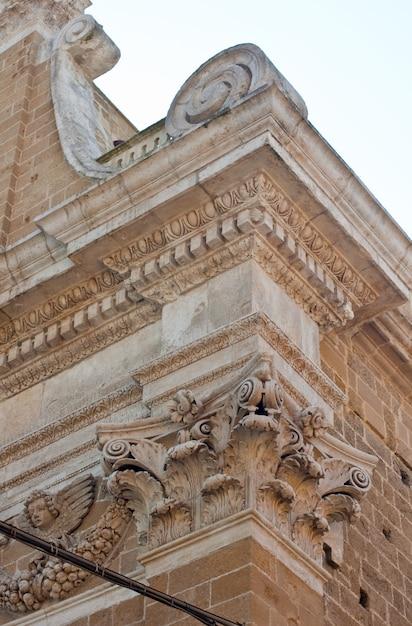Corinthian capital of a church, brindisi Premium Photo