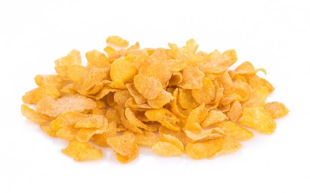 Corn flakes isolated on white background Premium Photo