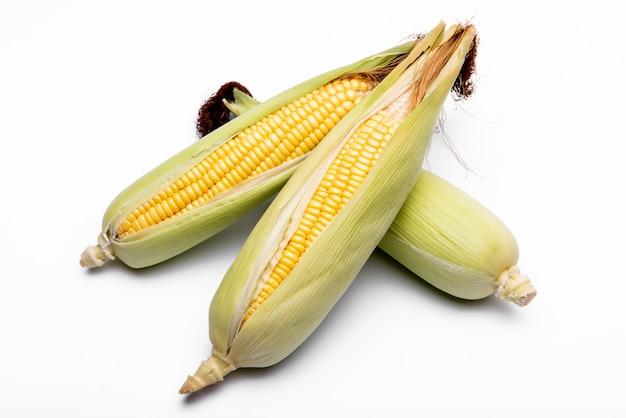 Corn isolated on white background. Premium Photo