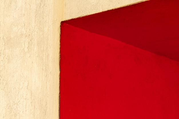 赤い壁の角 無料写真