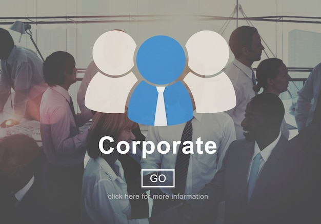 Corporate connection collaboration teamwork support concept Free Photo