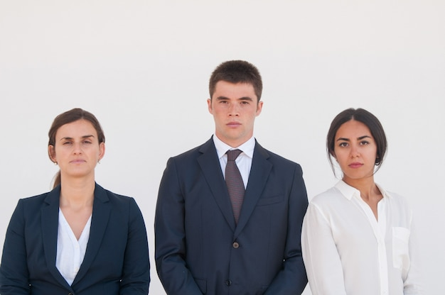 Corporate portrait of serious successful business team Free Photo