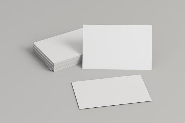 Корпоративные бланки пустые визитки вид спереди Бесплатные Фотографии