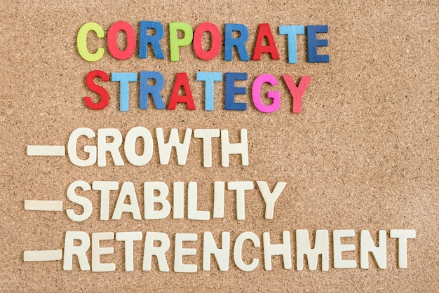 Corporate strategy on the board Free Photo
