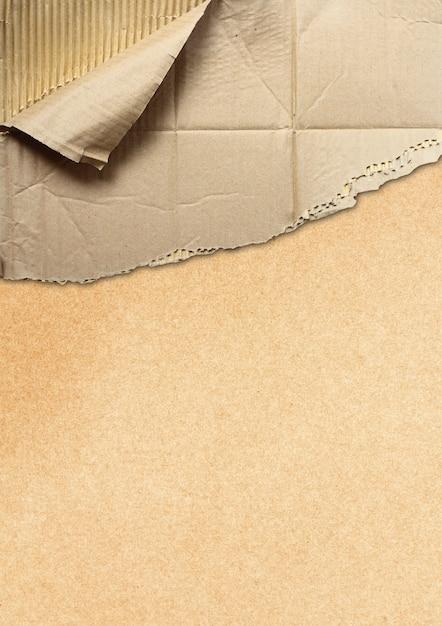 Corrugated cardboard teared apart Premium Photo