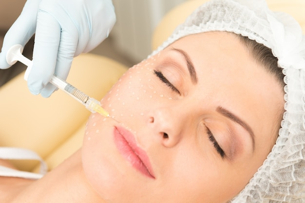 Cosmetic injection closeup Free Photo