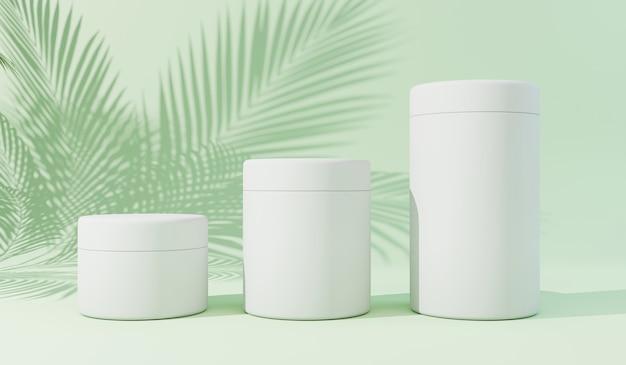 Cosmetic mockups 3d render Premium Photo