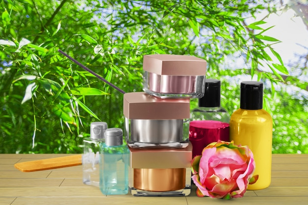 Cosmetic products Premium Photo
