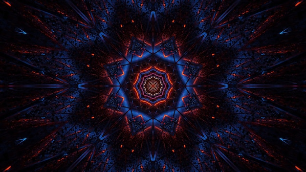 黒青と赤のレーザー光の宇宙背景放射-デジタル壁紙に最適 無料写真