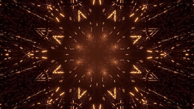 Космический фон из золотых и коричневых лазерных огней Бесплатные Фотографии