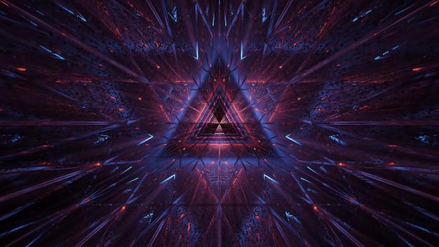 보라색-파란색과 빨간색 레이저 빛의 우주 배경 무료 사진