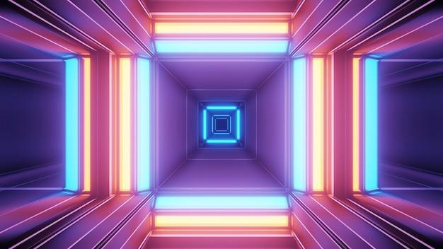 다채로운 기하학적 레이저 조명으로 우주 배경-디지털 벽지에 적합 무료 사진