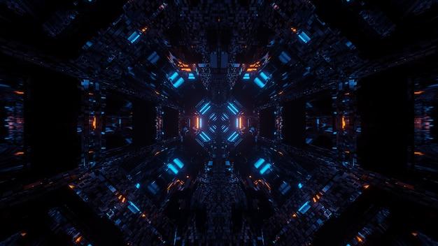 クールな形のカラフルなレーザー光で宇宙背景放射-デジタル壁紙に最適 無料写真
