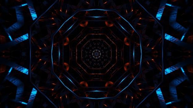 カラフルなレーザー光で宇宙背景放射 無料写真