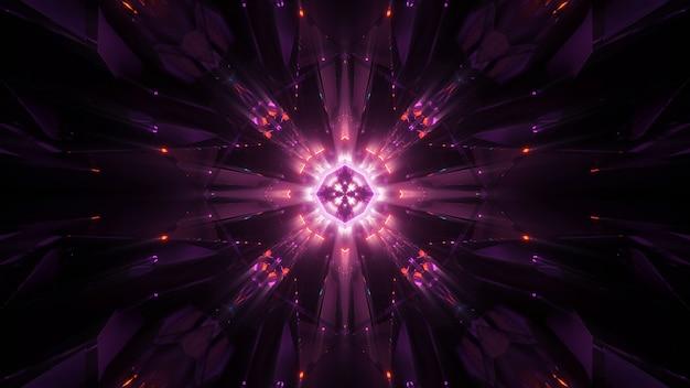 Sfondo cosmico con luci laser al neon colorate - perfetto per uno sfondo digitale Foto Gratuite