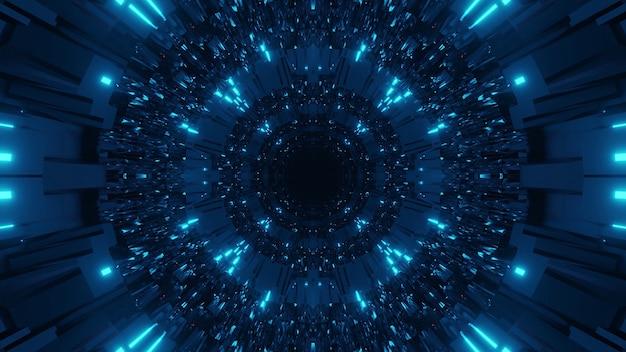 Sfondo cosmico con luci laser blu scuro e chiaro - perfetto per uno sfondo digitale Foto Gratuite