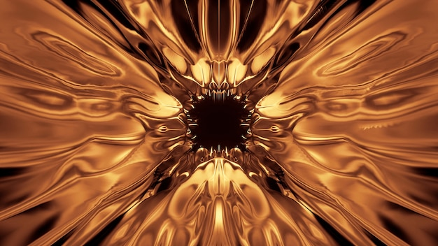 Cosmic background with golden laser lights - perfect for a digital wallpaper Free Photo