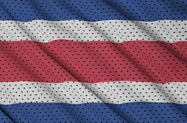 Costa rica flag printed on a polyester nylon mesh Premium Photo