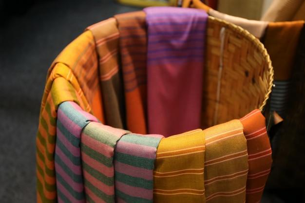 Cotton texture background, thai style Premium Photo