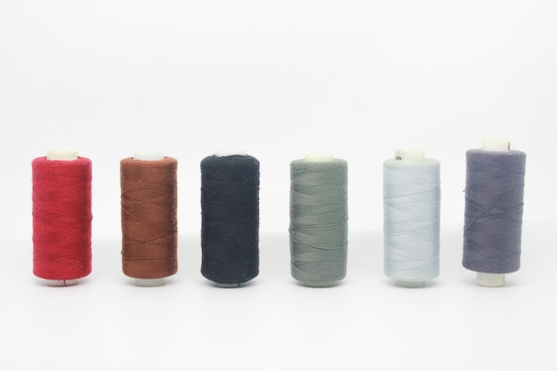 Cotton yarn isolated Premium Photo