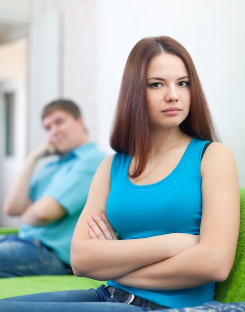 couple after quarrel in home Free Photo