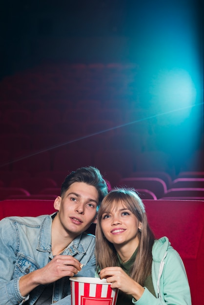 Couple in cinema Free Photo