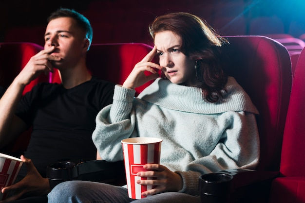 Couple in cinema Free Photo