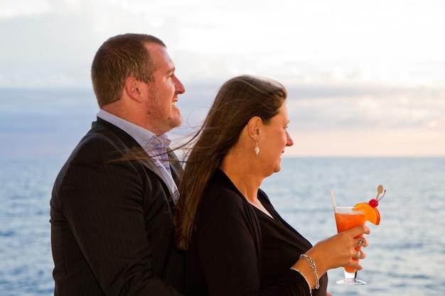 Couple in cruise Premium Photo