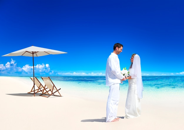 Couple getting marriage on the beach 53876 30394