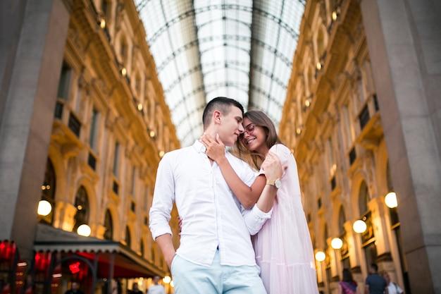 Couple on honeymoon in milan Free Photo