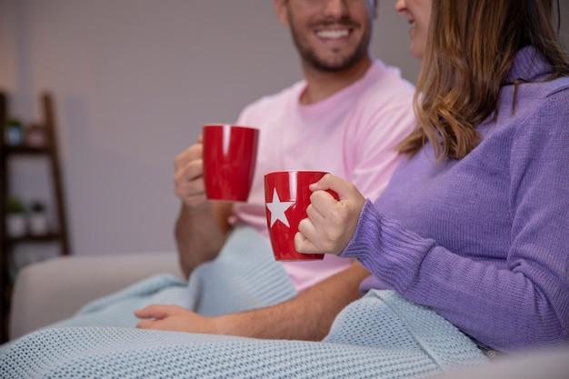 Couple in love relaxing at home Free Photo