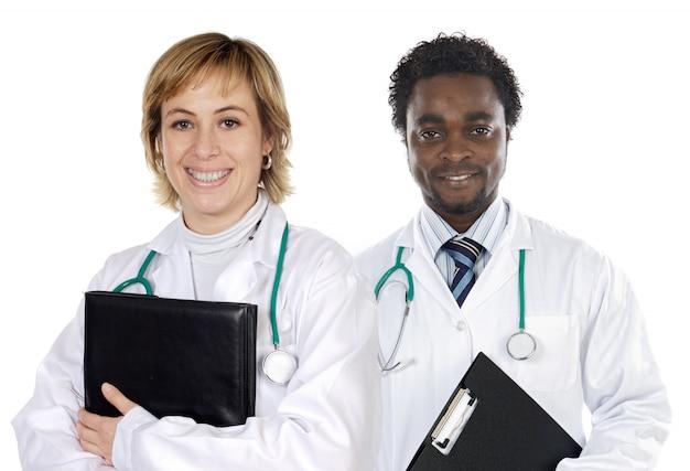Пара молодых врачей Premium Фотографии