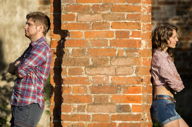 Couple quarreled Free Photo