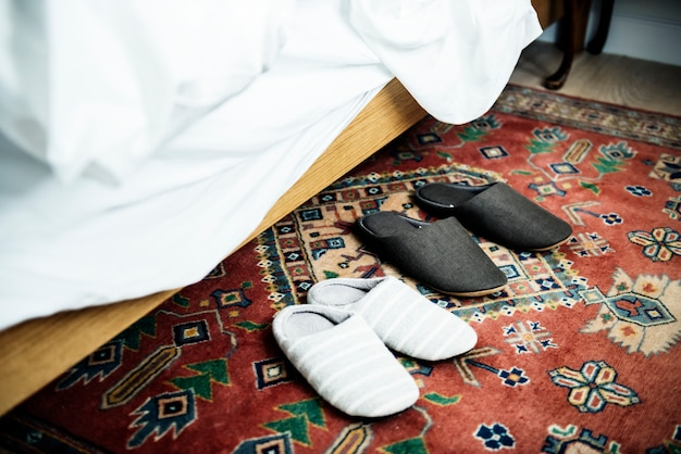Couple slippers Free Photo