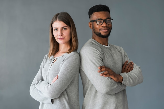 Couple with arms crossed Free Photo