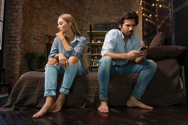 Couple with relationship problems Premium Photo