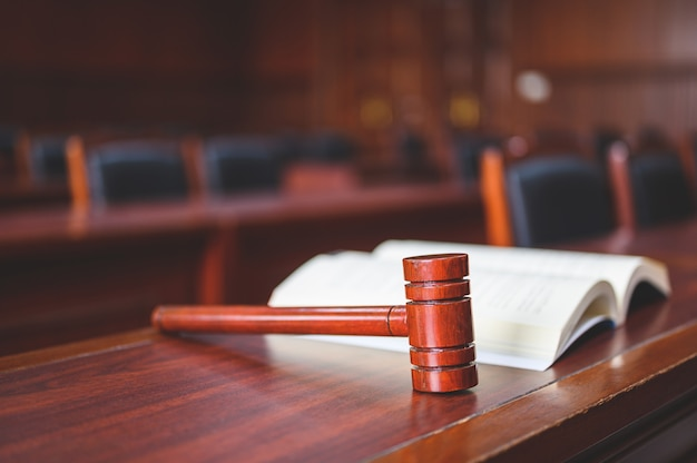The court room considered cases related to various cases. Premium Photo