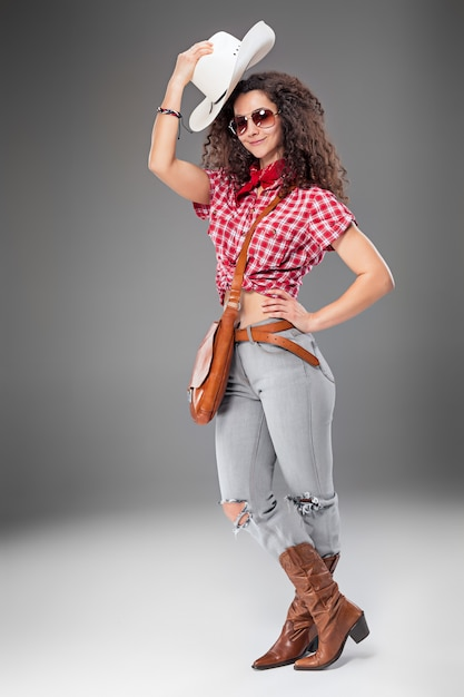The cowgirl fashion woman Free Photo
