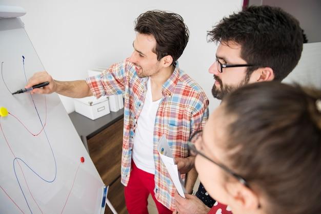 회사 전략에 참여하는 동료 무료 사진